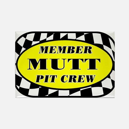 Mutt PIT CREW Rectangle Magnet