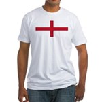 England St George's Cross Flag Fitted T-Shirt