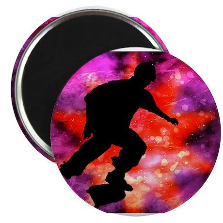 Skateboarder in Cosmic Clouds Magnet