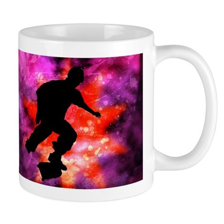Skateboarder in Cosmic Clouds Mug