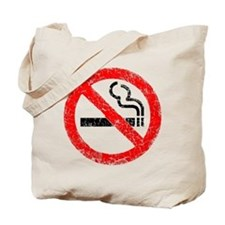 Distressed, No Smoking Tote Bag