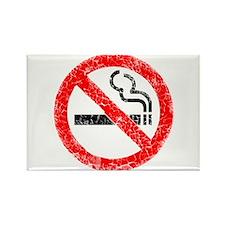 Distressed, No Smoking Rectangle Magnet