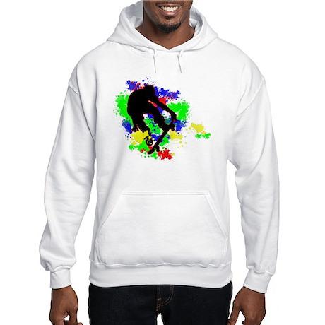 Graffiti Paint Splotches Skat Hooded Sweatshirt