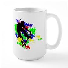 Graffiti Paint Splotches Skat Mug
