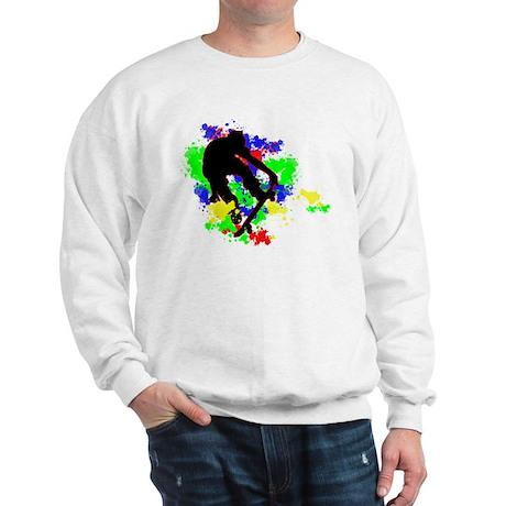 Graffiti Paint Splotches Skat Sweatshirt