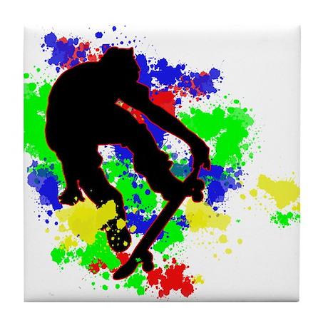 Graffiti Paint Splotches Skat Tile Coaster