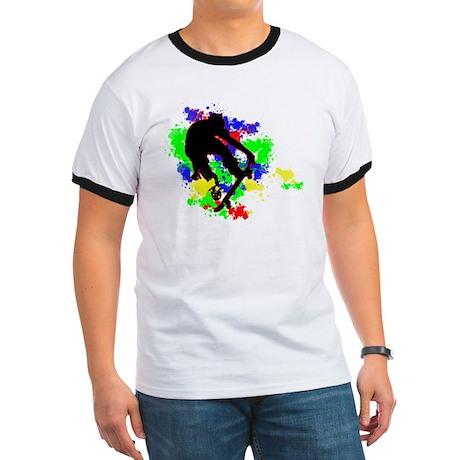 Graffiti Paint Splotches Skat Ringer T