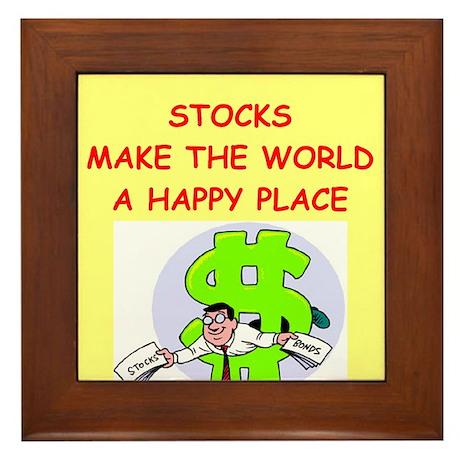 stocks Framed Tile