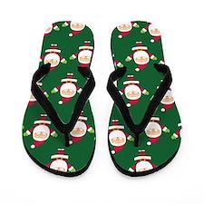 Christmas Santa Flip Flops