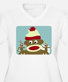 Sock Monkey Angel & Devil T-Shirt