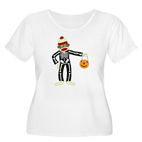 Sock Monkey Halloween Women's Plus Size T-Shirt