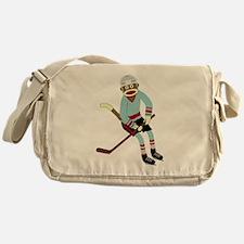 Sock Monkey Hockey Messenger Bag