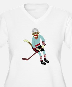 Sock Monkey Hockey T-Shirt