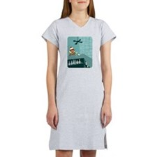 Sock Monkey Martini Bar Women's Nightshirt