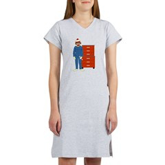 Sock Monkey Mechanic Women's Nightshirt