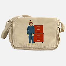 Sock Monkey Mechanic Messenger Bag