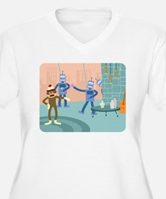 Sock Monkey Robot Party T-Shirt