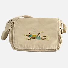Sock Monkey Scuba Diver Messenger Bag