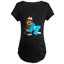 Sock Monkey Monogram Boy M T-Shirt
