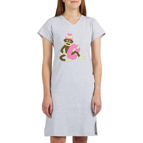 Sock Monkey Monogram Girl C Women's Nightshirt