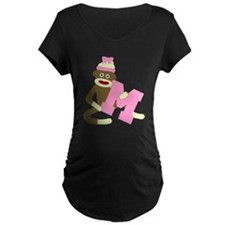 Sock Monkey Monogram Girl M T-Shirt