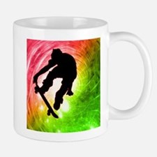Skateboarder in a Psychedelic Mug
