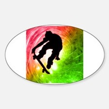 Skateboarder in a Psychedelic Decal
