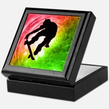 Skateboarder in a Psychedelic Keepsake Box