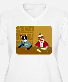 Boston Terrier Sock Monkey Women's Plus V-Neck