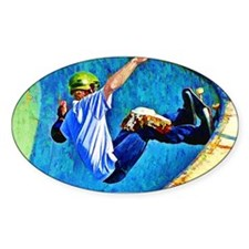 Skateboarding in the Bowl Decal