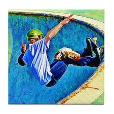 Skateboarding in the Bowl Tile Coaster
