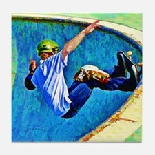 Skateboarding in the Bowl Tile Coaster