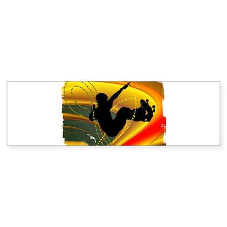 Skateboarding in the Bowl Sil Sticker (Bumper)