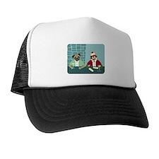 Pug & Sock Monkey Trucker Hat