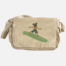Pug Surfer Messenger Bag