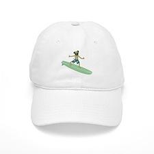 Pug Surfer Baseball Cap