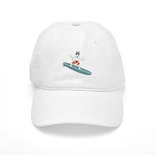 Siberian Husky Surfer Baseball Cap