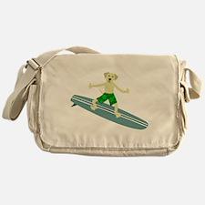 Yellow Lab Surfer Messenger Bag