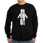 Typographic Robot Sweatshirt (dark)