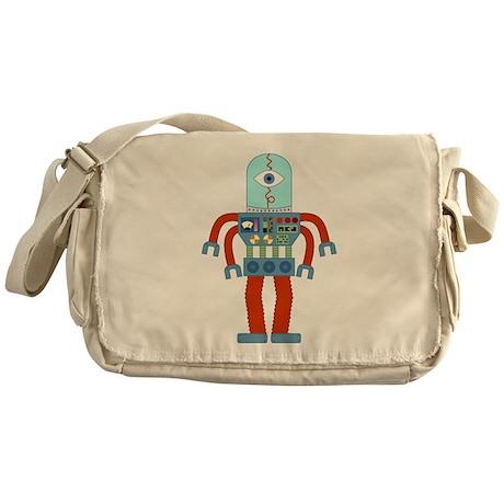 Eyeball Robot Messenger Bag