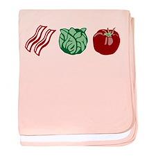 Bacon Lettuce Tomato baby blanket