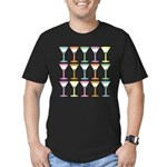 Martini Pop Art Men's Fitted T-Shirt (dark)