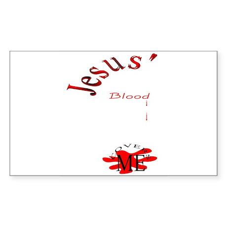 Jesus' Blood Rectangle Sticker
