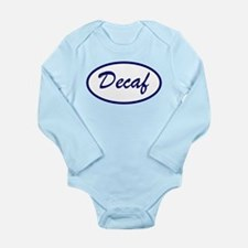 Decaf Name Patch Long Sleeve Infant Bodysuit