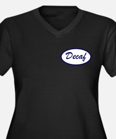 Decaf Name Patch Women's Plus Size V-Neck T-Shirt