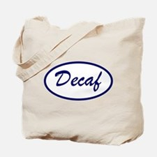 Decaf Name Patch Tote Bag