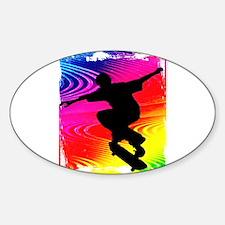 Rainbow Grunge Skateboarder Decal
