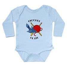 Crochet or Die Tattoo Long Sleeve Infant Bodysuit