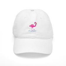 Pink Flamingo on One Leg Baseball Cap