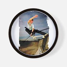 Skateboarding the Wall Wall Clock